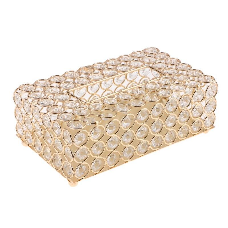 Cristal mouchoir support de la boîte cristal carré serviette distributeur chambre bureau hôtel café café maison Bar