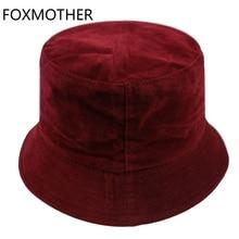 Foxmere-chapeaux seau en velours pour femmes   Nouveaux chapeaux dautomne, dhiver, Camel noir blanc, couleur unie