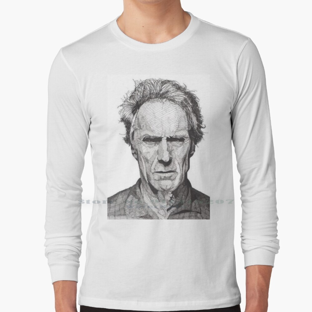 Clint Eastwood T Shirt 100% Pure Cotton Clint Eastwood Actor Million Dollar Baby Gran Torino Young Thug