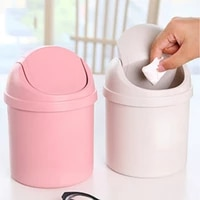 multifunction small waste bin cute mini trash can desktop trash basket table home office trash can household cleaning tools