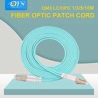 10pcs lc lc multi mode om3 fiber cable multimode duplex fiber optical jumper patch cord mm 50125 3 0mm