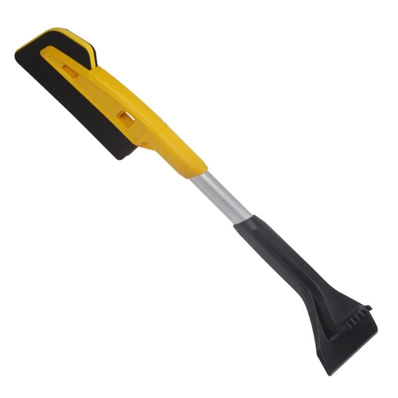 Cepillo desmontable 2 en 1 para parabrisas de coche, práctico y cómodo diseño fácil de usar, raspador de hielo, herramienta automática para invierno