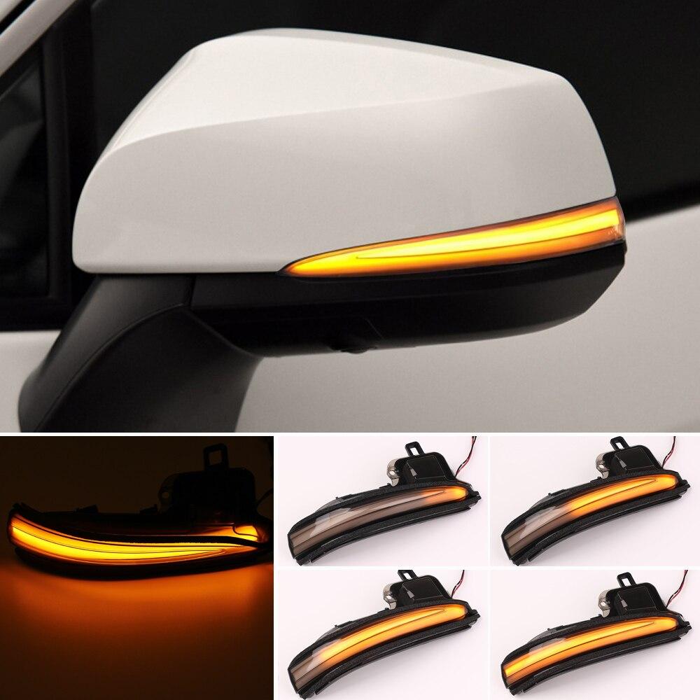 Luz de espejo de señal de giro 2020 para Toyota RAV4 Highlander 2019-2020, luces LED de espejo lateral dinámicas para retrovisor, luces de señal de giro para coche