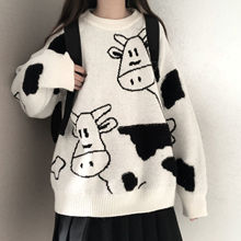 Sweater pullover autumn and winter new sweet pullover sweater female student Korean version loose wi