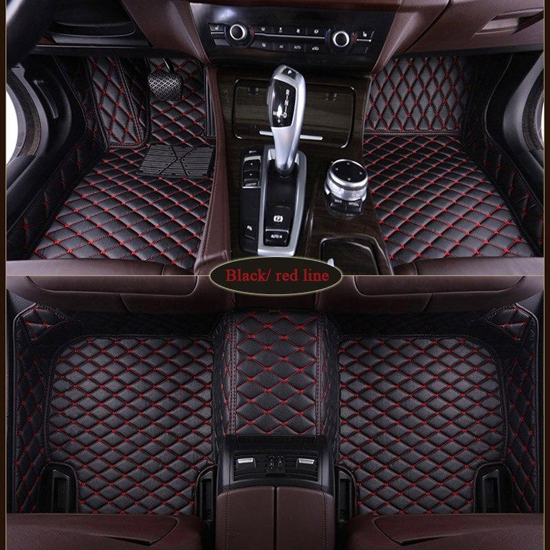 Alfombrilla de coche para BMW 1, 3, 4, 5, 7 Series, 320i, M, 330i, 528i, 520i, 535i, X1, X3, X4, X5, X6, alfombrillas de coche impermeables