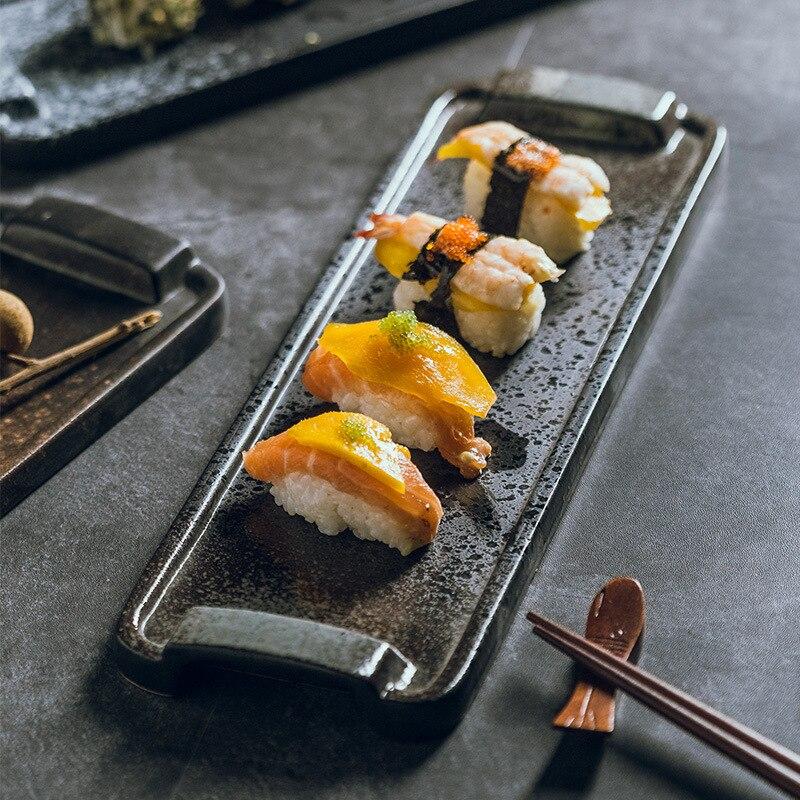 الإبداعية اليابانية المطبخ طبق سوشي مطعم لوحة طويلة حوض سيراميك مستطيل لوحة كبيرة لوحة مسطحة مجموعة أدوات المائدة