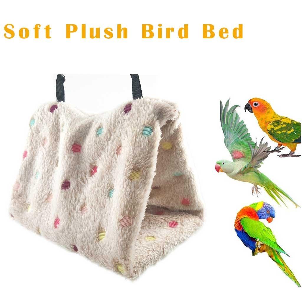 Quente macio pelúcia pássaros papagaio rede ninho pet pendurar cama caverna gaiola papagaio rede coral veludo cabana casa adequado para lovebird # y30