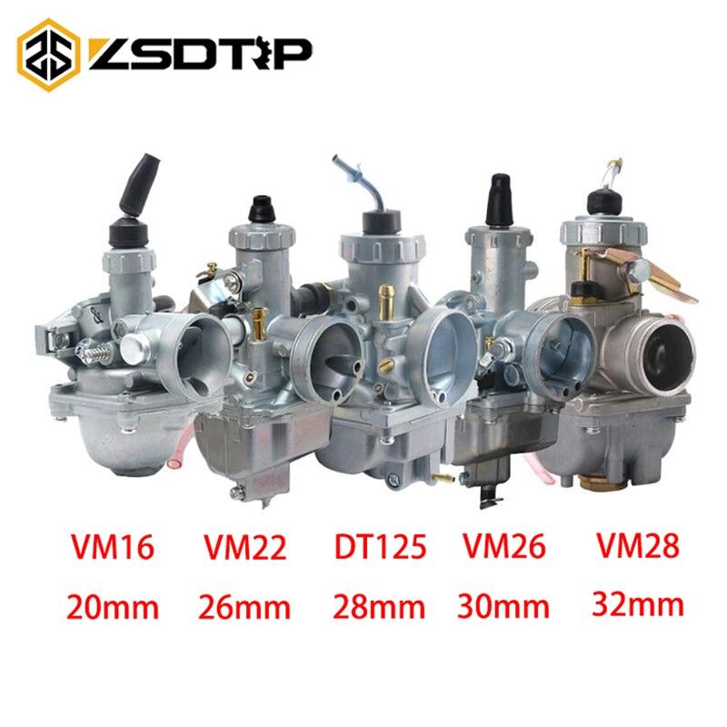 ZSDTRP VM16 VM22 VM26 VM28 мотоцикл Mikuni 20 мм 26 мм 28 мм 30 мм 32 мм карбюратор для Yamaha DT125 DT175 RX125 Байк внедорожный