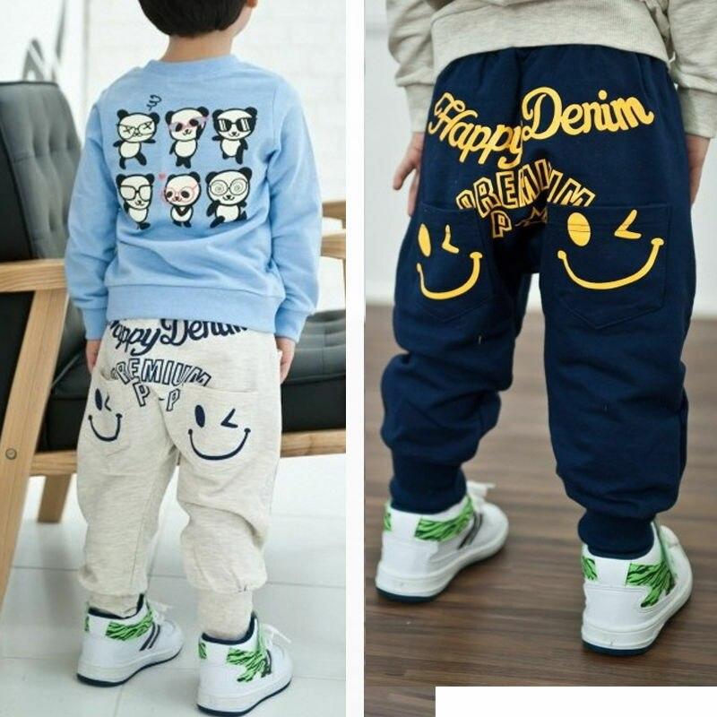 Kids Baby Boy Girls Happy Face Harem Pants Toddler Hip Hop Trousers Bottoms