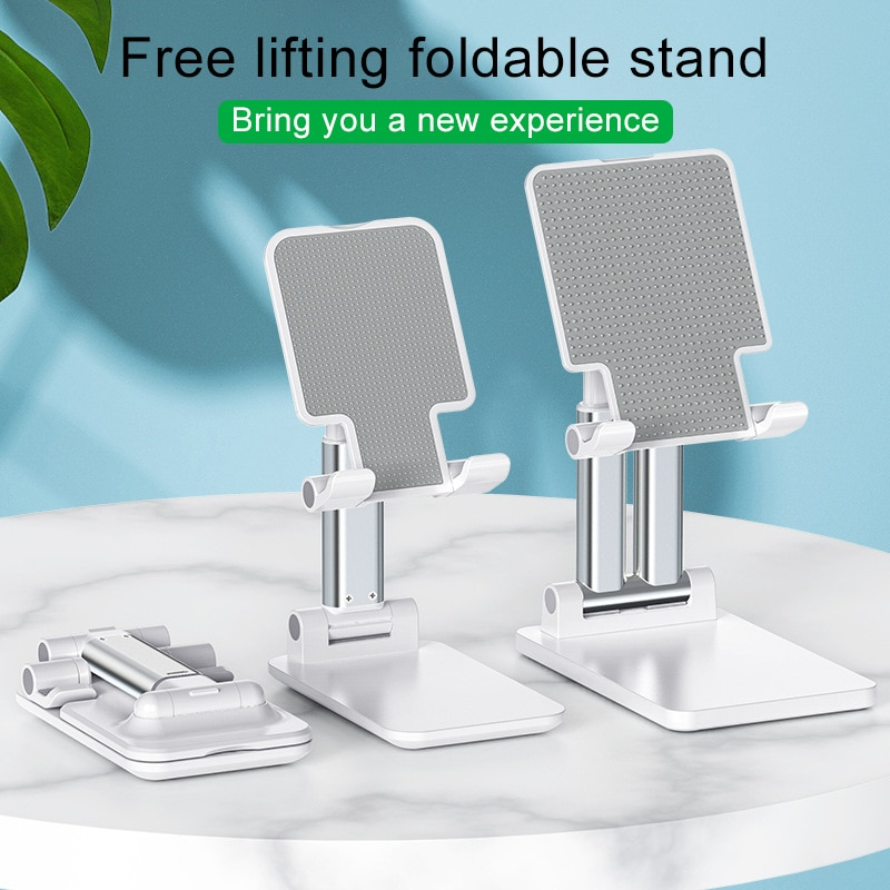 Universal Desk Mobile Phone Holder Stand Metal Foldable Stand For iPhone Xiaomi Huawei Tablet Holder For iPad Pro Air Surface