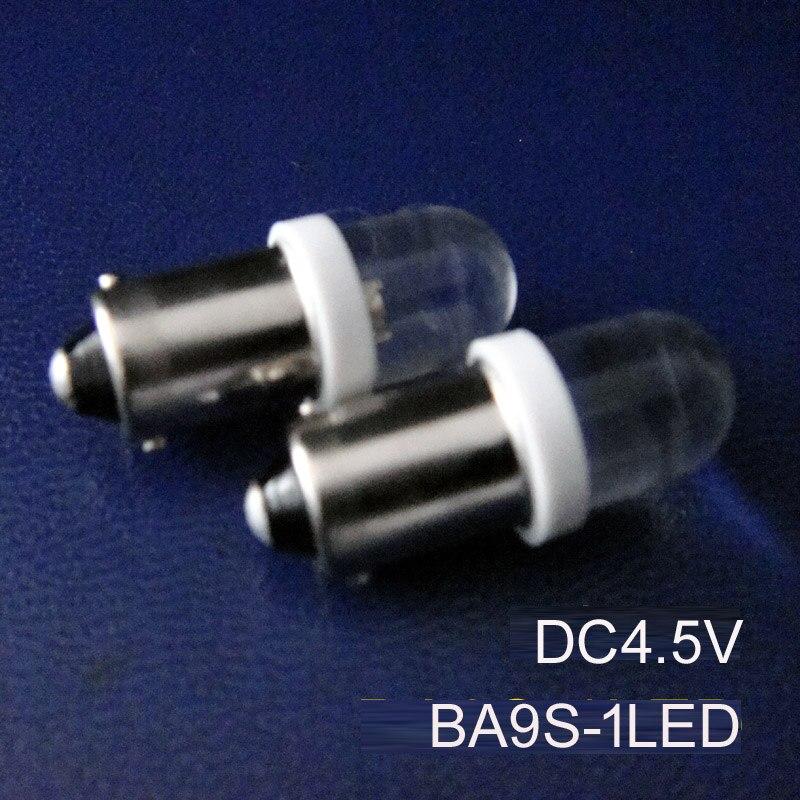 عالية الجودة BA9S 4.5 فولت ، led T4w 4.5 فولت ، BAX9S ضوء 5 فولت ، BA9S تشير مصباح 4.5 فولت ، T4w 1815 1895 T11 BAX9S Led ، شحن مجاني 500 قطعة/الوحدة