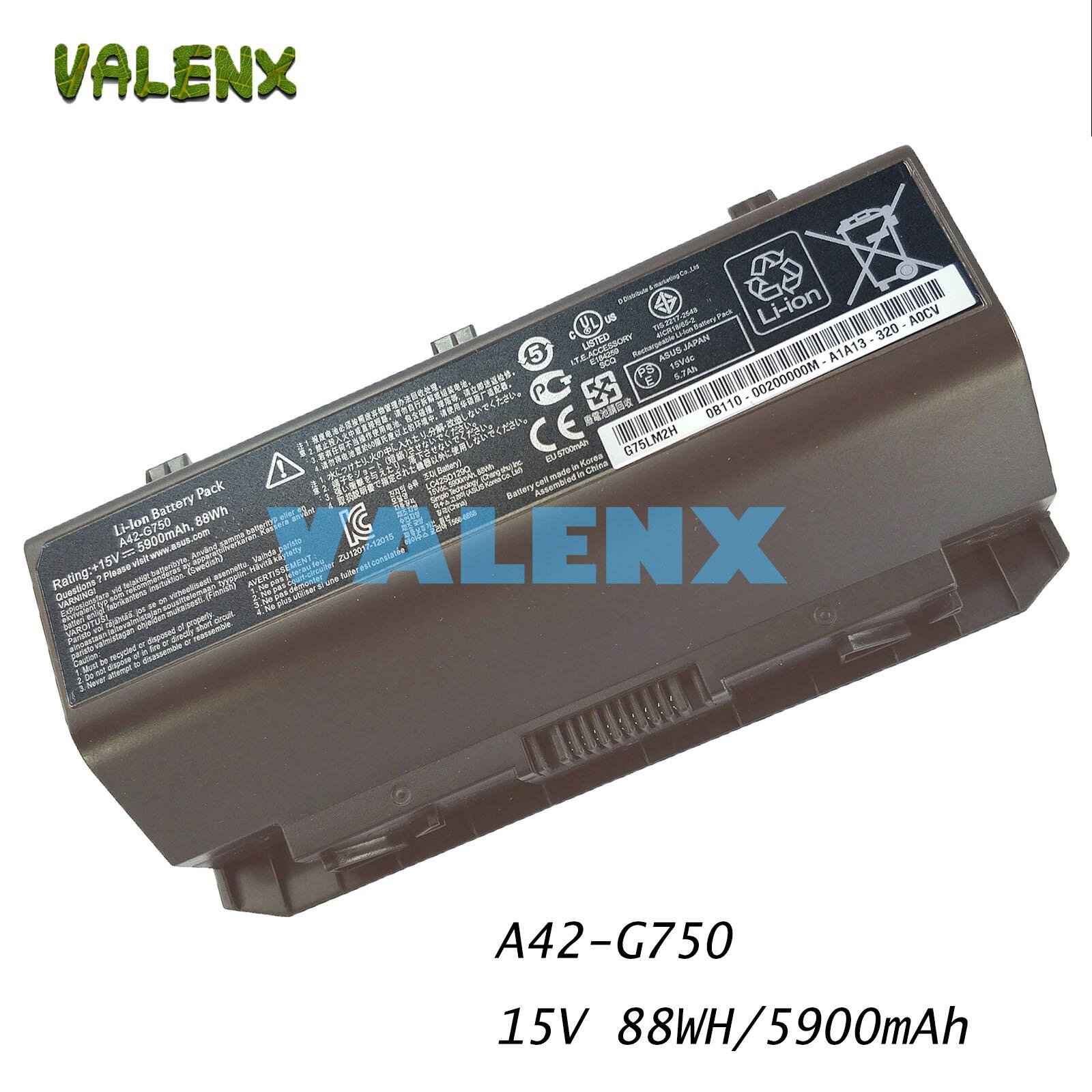 88WH A42-G750 بطارية ل G750 ROG الألعاب المحمول 0B110-00200000M 0B110-00200000