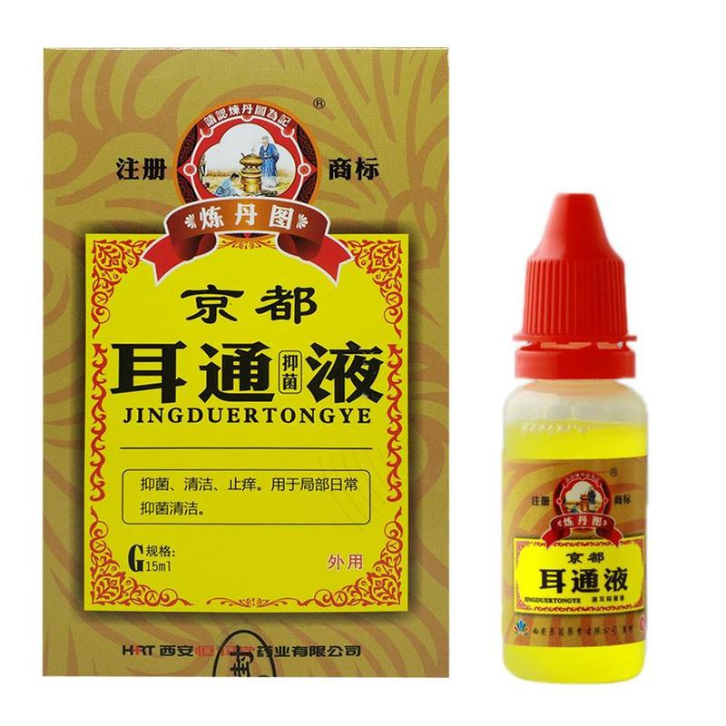 2020 nuevo oído Herbal chino Otitis aguda gotas SOLUCIÓN DE OÍDO