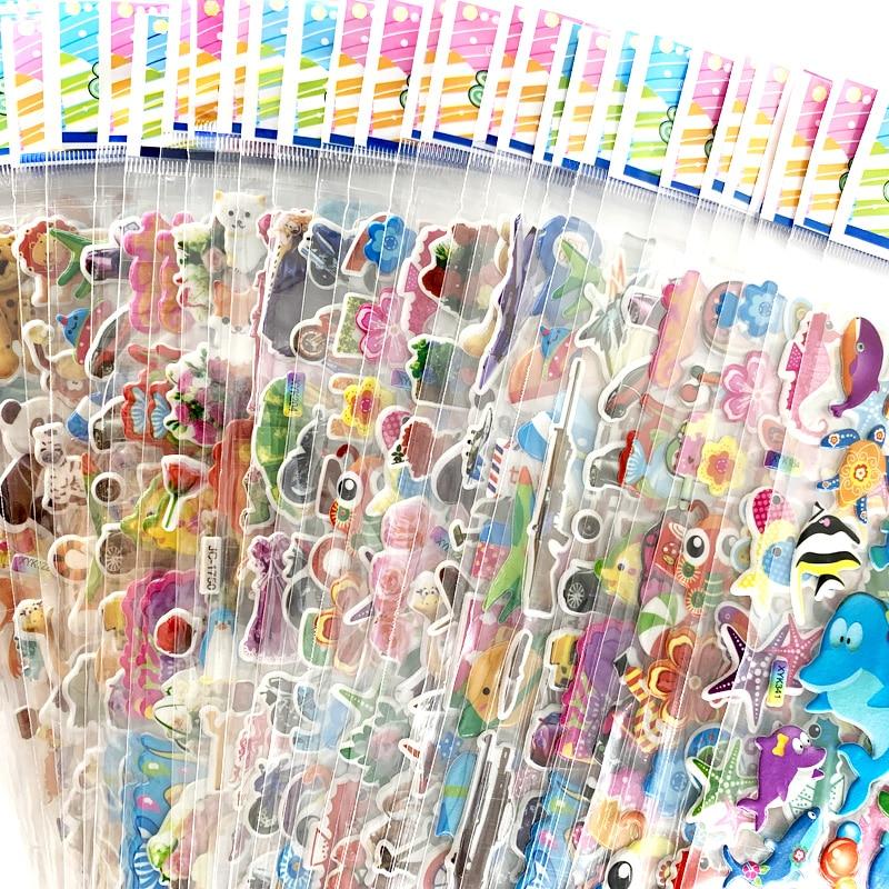 12 листов/упаковка, объемные 3D наклейки для детей
