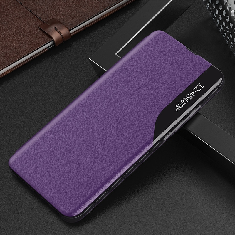 Smart View Magnetic Suck Leather Flip Case for OPPO Reno 2 2F 2Z A5 A9 2020 Smart Wake UP Sleep Leather Flip Case
