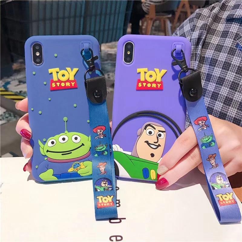 3D dessin animé Anime jouet histoire Buzz Lightyear étui pour iphone 11 pro X Xs MAX 6 s 7 8 plus mignon trois yeux Alien silicone couverture souple