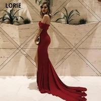 lorie elegant burgundy evening dresses mermaid off the shoulder sweetheart long formal prom party gowns with split sweep train