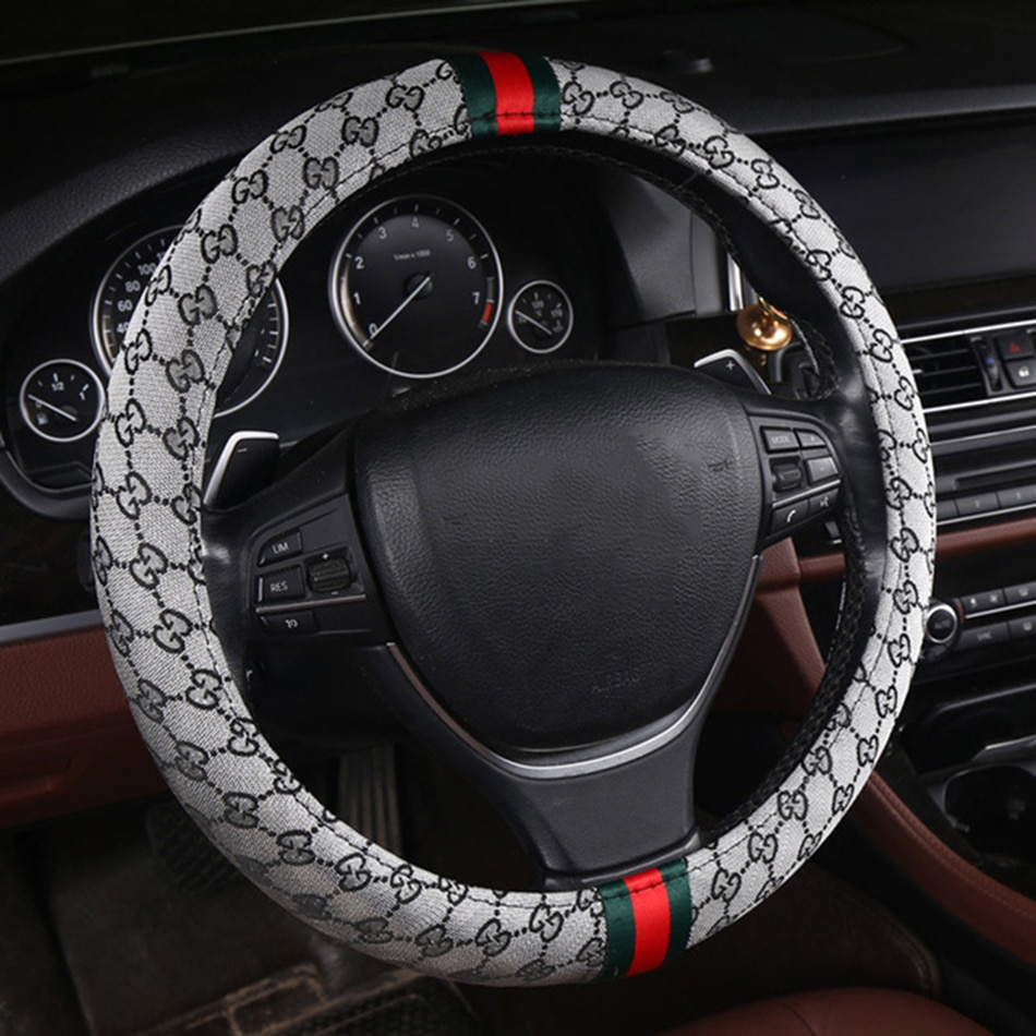 Flash mat Lino protector para volante de coche para BORGWARD BX5 BX7 para BISU T3 T5 M3 Accesorios Estilo deporte fundas de asiento