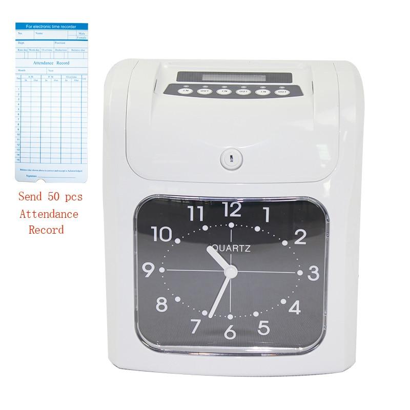 W-S1 الرقمية الوقت مسجل الحضور لكمة بطاقة الوقت ساعة مكتب الموظفين الاختيار في اللكم آلة