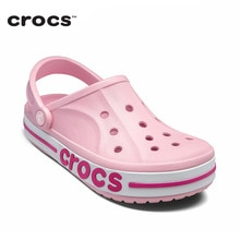Croks Women Shoes Cute Pink Sandals Ladies Outdoor Hole Shoes Fashion Footwear Quick Dry