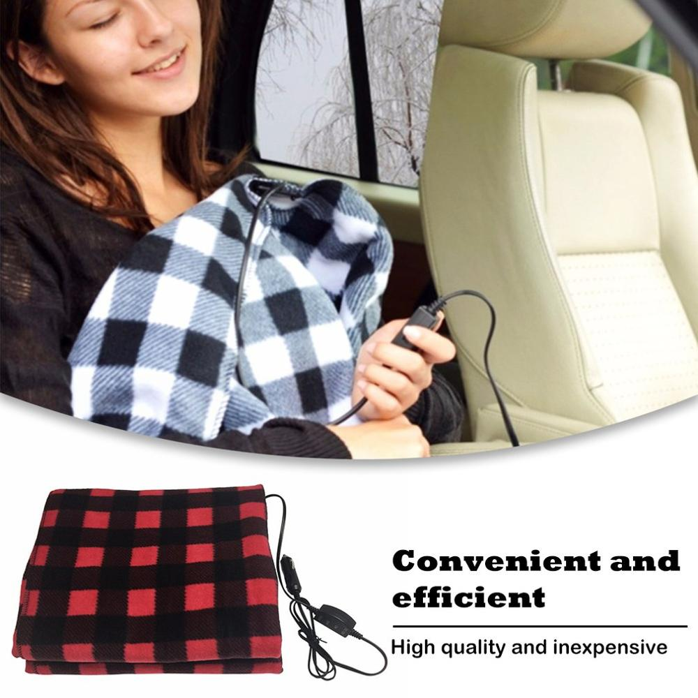 145*100Cm 12V Car Heating Blanket Lattice Energy Saving Warm Autumn And Winter Car Electric Blanket Automotive