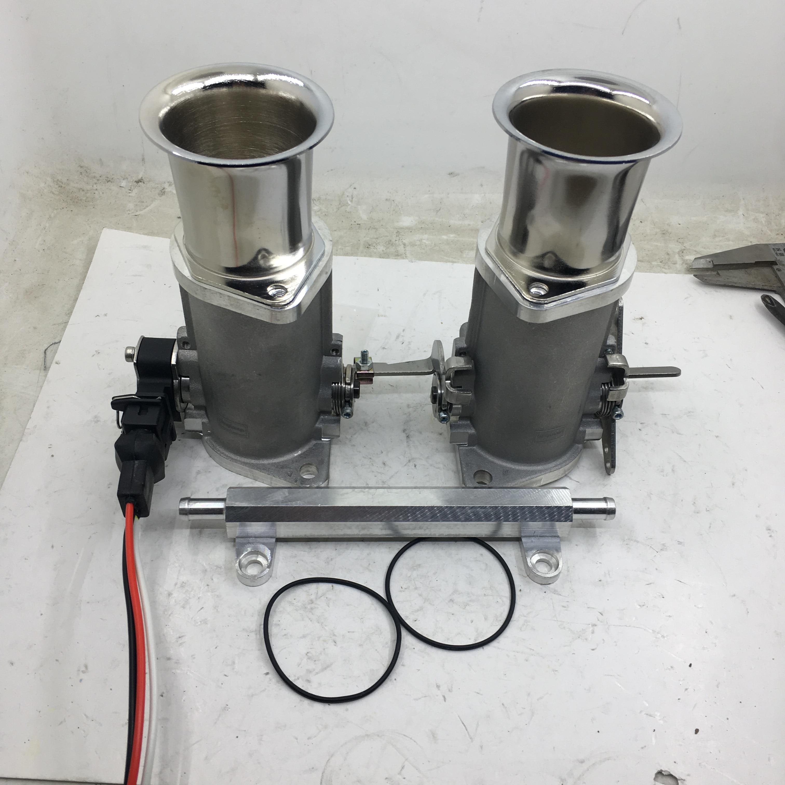 SherryBerg FAJS throttle bodies INJECTION 40IDA pattern 40mm EFI Weber FOR VW Gemini Escort Datsun with air horns TPS & cable