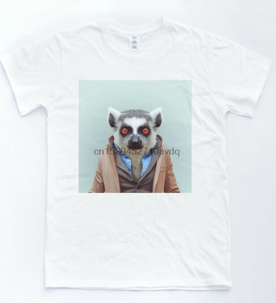 Camiseta con retrato de Selfie Lemur, camiseta Hipster Vintage con Zoo fresco estilo Indie