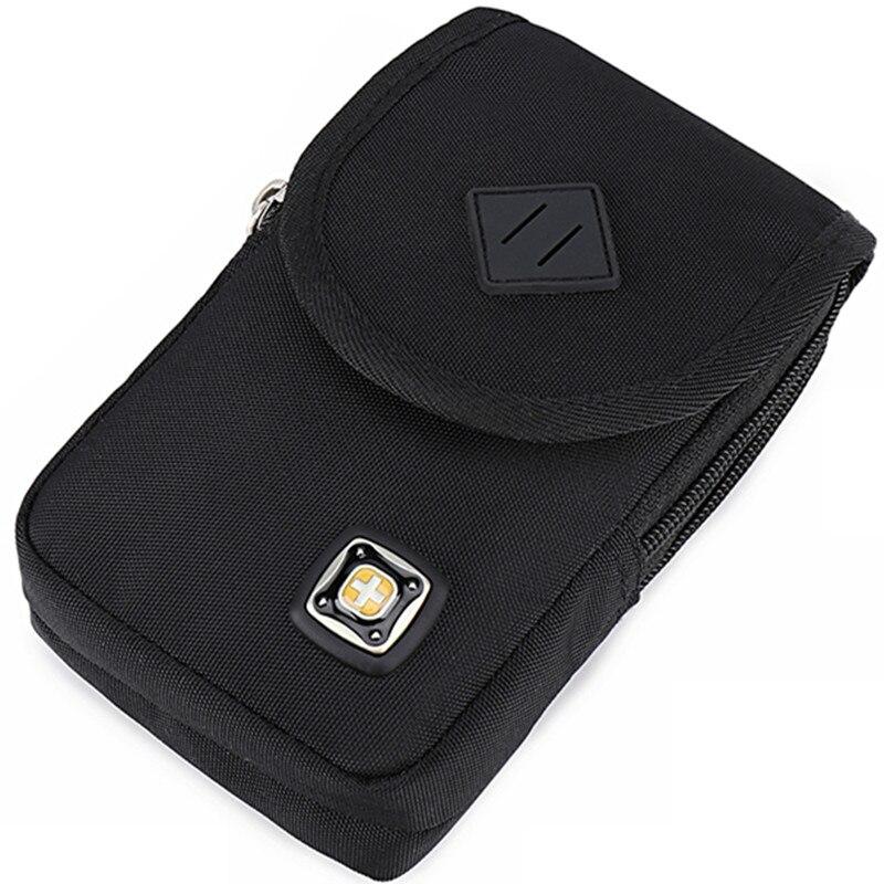 Многофункциональный Для Мужчин's мобильный телефон поясная сумка 6-дюймовый 7-дюймовый мобильный телефон сумка Холст одежда ремень кошелек ...