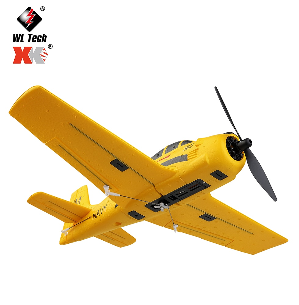 2021 New Wltoys A210 RC Airplanes Four-Channel Like Real Machine P40 Fighter Remote Control Glider Unmanned Aircraft Outdoor Toy enlarge