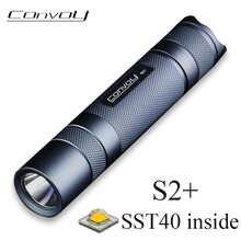 Конвой S2 плюс SST40 вспышка светильник Linterna Фонарик светодиодный супер мощный 18650 вспышка светильник 1800lm кемпинга Рыбная ловля рабочий светил...