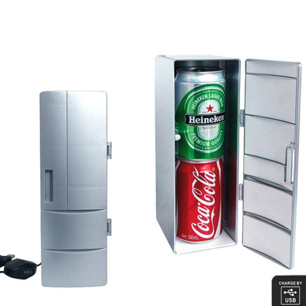 Mini geladeira criativa com usb, mini geladeira para remédios, cosméticos e geladeira