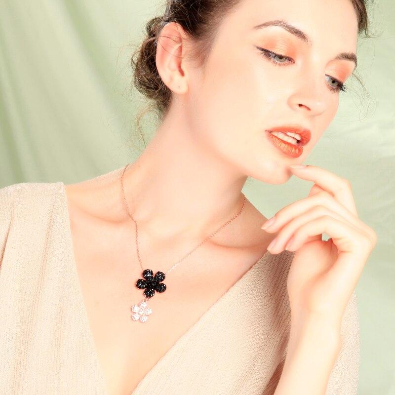 Boehemia moda flor colar para as mulheres design simples cristal pendente colar data de nomeação presente jóias acessório