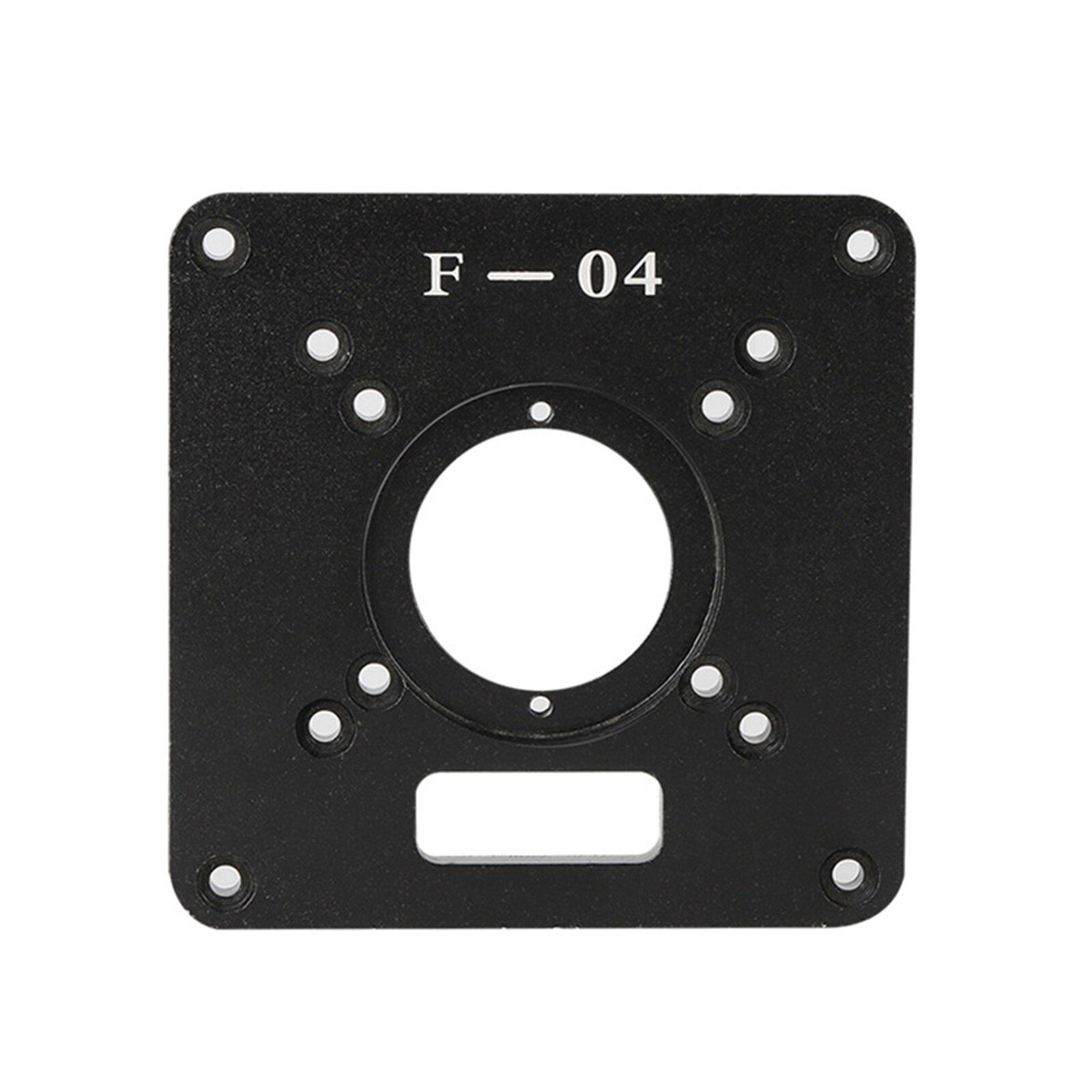 Máquina de aparar placa da aleta para bancos de madeira roteador placa mesa universal rt0700c alumínio placa inserção