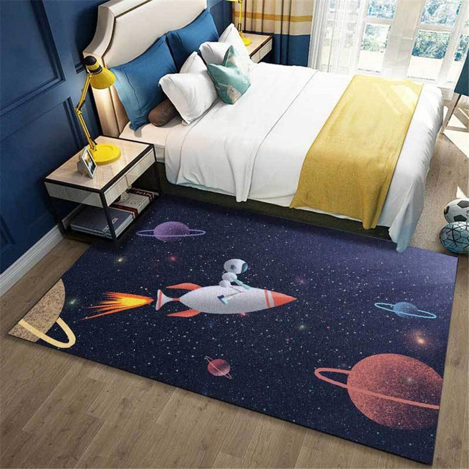 الكرتون صاروخ الفضاء الأطفال السجاد الاطفال نوم ديكور موضة لطيف السرير الجانب السجاد السجاد للحمام المطبخ حصيرة