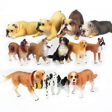 Mignon Simulation chien chien Miniature Figurine belle Animal chien modèle décor à la maison Simulation enfants jouet cadeaux décoration JJ60SB