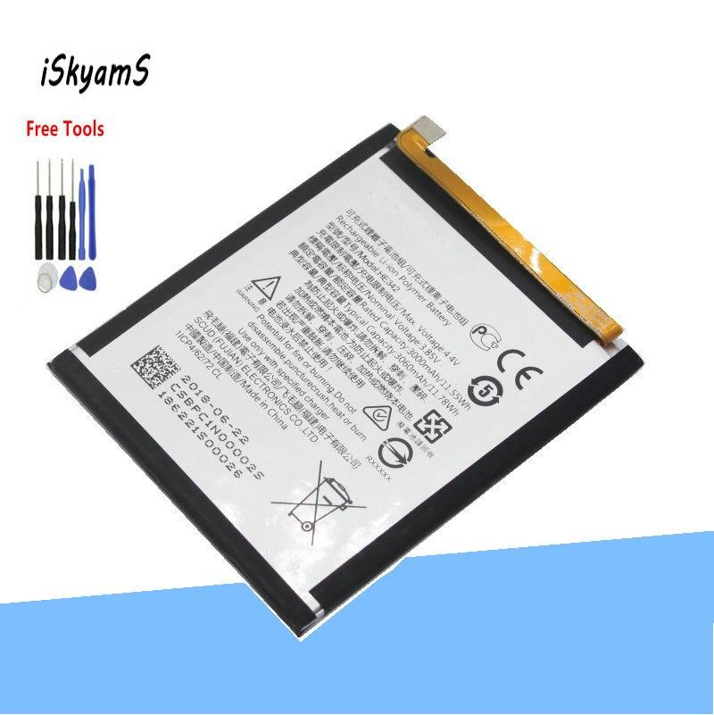 ISkyamS 1x3000 мАч HE342 сменная батарея для Nokia X6 2018 6,1 Plus TA 1099X5 TA 1109 5,1 Plus мобильный телефон + инструмент