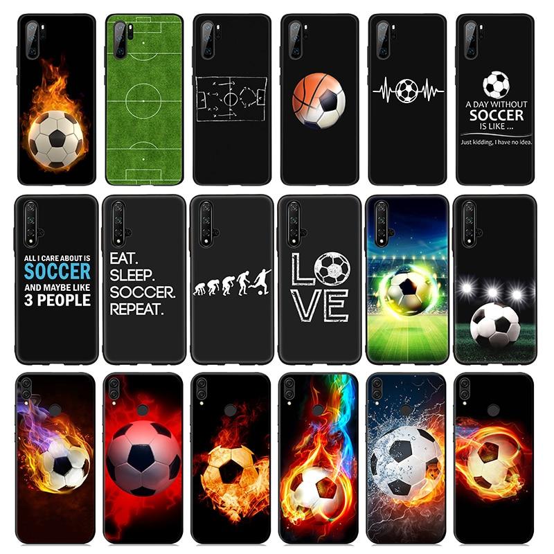 De Fútbol fútbol de silicona suave caso de Huawei P30 P20 P10 Lite Pro P Smart Plus 2018 2019 P30 Pro P inteligente Z