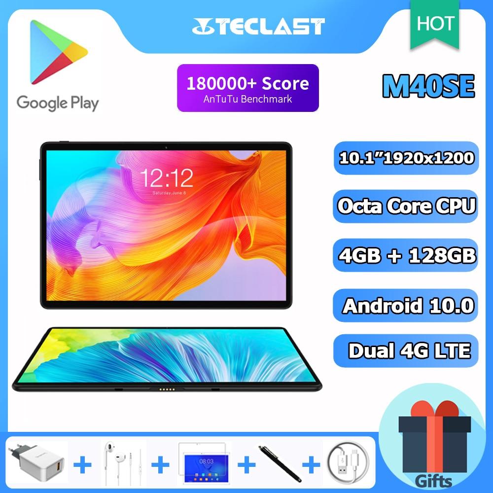تابلت Teclast M40SE 10.1 ''1920x1200 شبكة 4G LTE ثماني النواة 4GB RAM 128GB ROM تابلت الكمبيوتر الأندرويد 10.0 5G واي فاي بلوتوث لتحديد المواقع