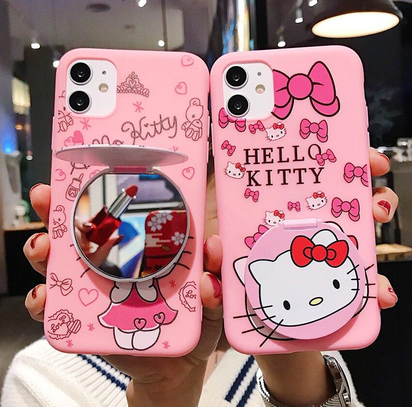 Olá kitty caso do telefone móvel para o iphone 11 11pro 11pro max iphone 7 8 caso do telefone móvel para o iphone 2020se