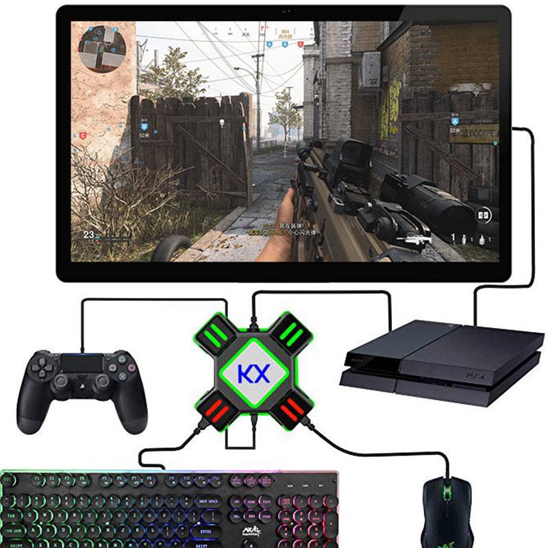 Gamepad denetleyici dönüştürücü PS4 klavye fare adaptörü Xbox One nintendo anahtarı emülatörü desteği FPS oyun kolu aksesuarları