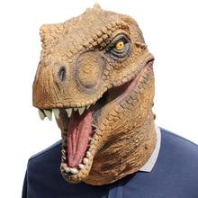Masque Animal Tyrannosaur Cosplay Halloween   Accessoires pour fête costumée, masque tête de dinosaure Jurassic, fournitures de fête danniversaire