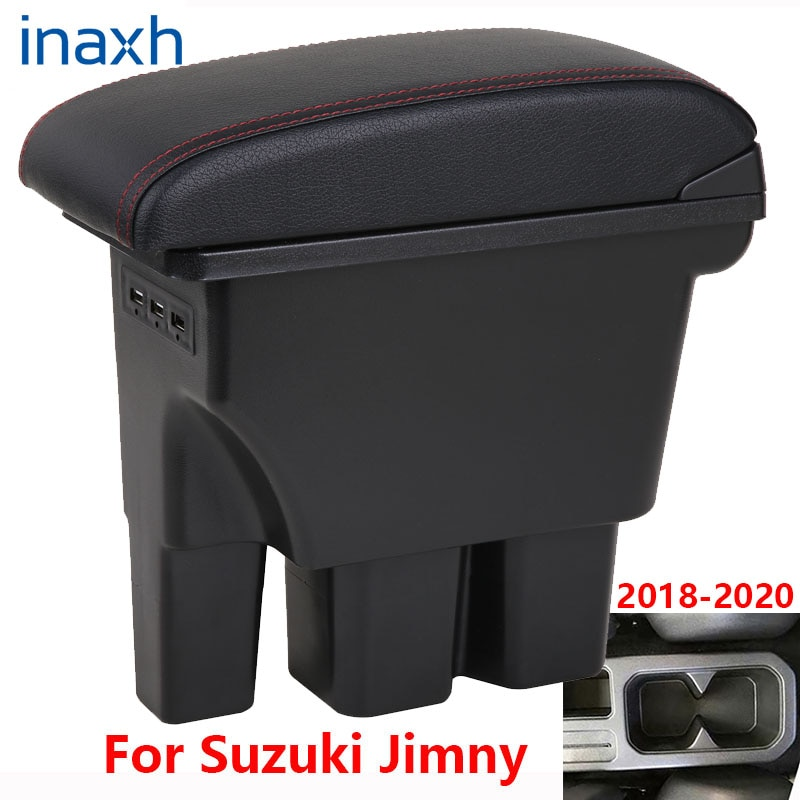 For Suzuki Jimny Armrest Jimny 2020 2019 2018 2017 JB74 Retrofit parts Car Armrest box Storage box car Interior accessories 3USB for suzuki swift armrest box 2005 2019 car armrest car accessories interior storage box retrofit parts usb 2011 2014 2017 2018