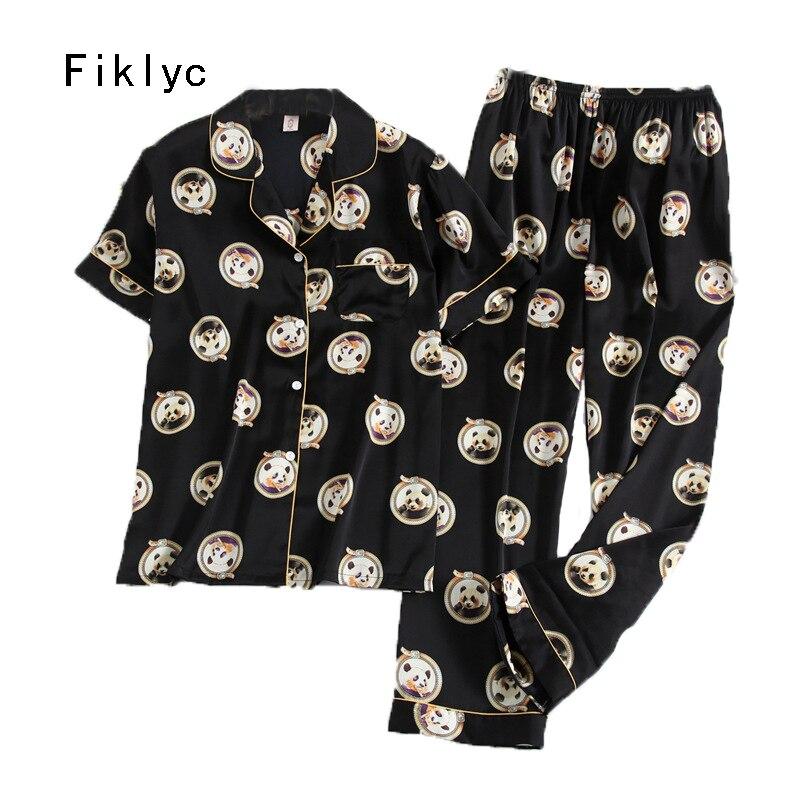 Pantalones cortos de ropa interior Fiklyc juego de pijama de satén de lujo europen superventas ropa de casa juegos de camisón de verano
