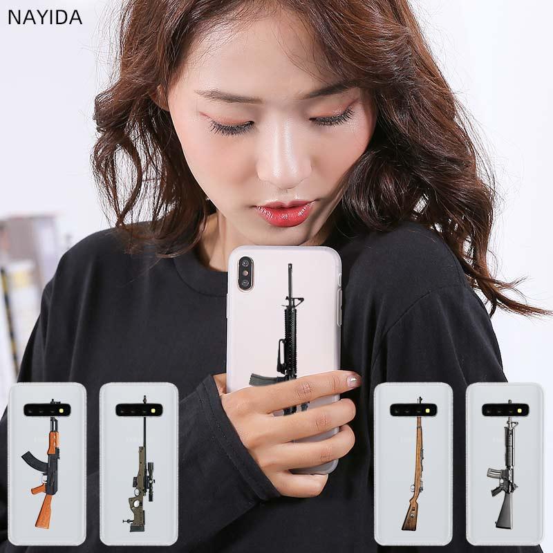 Pattern Soft Silicone TPU Phone Case Cover For Samsung Galaxy S20 S6 S7 Edge S8 S9 S10 Plus Note 10 8 pubg gun