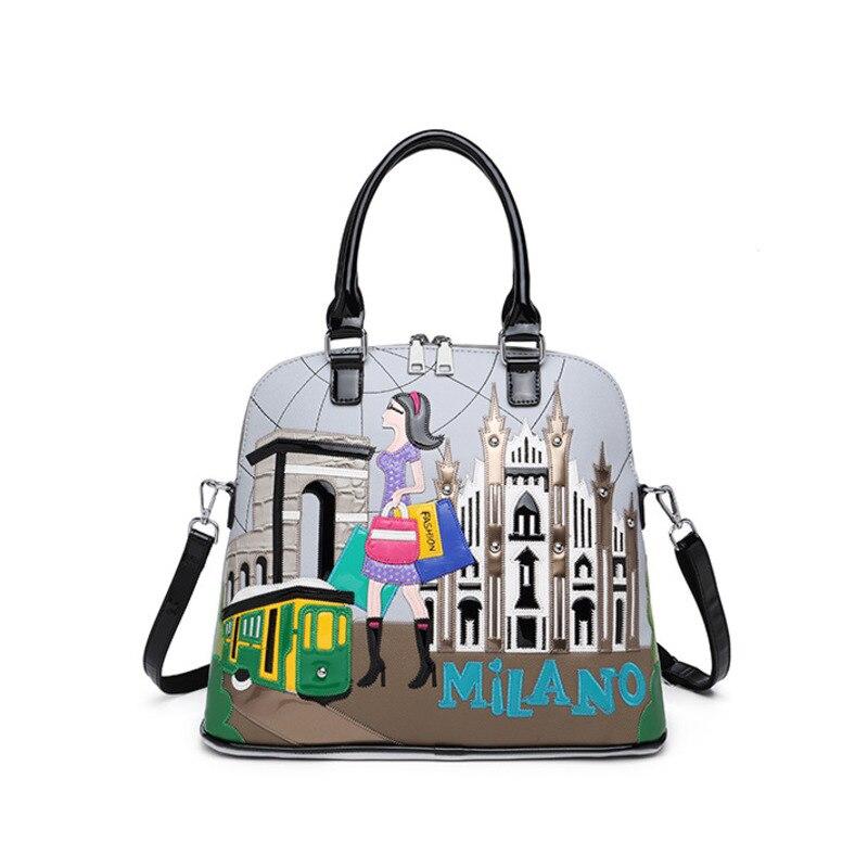 حقائب يد نسائية من جلد البولي يوريثان ، سعة كبيرة ، حقائب مصممة ، حقائب كتف ، حقائب حمل عالية الجودة