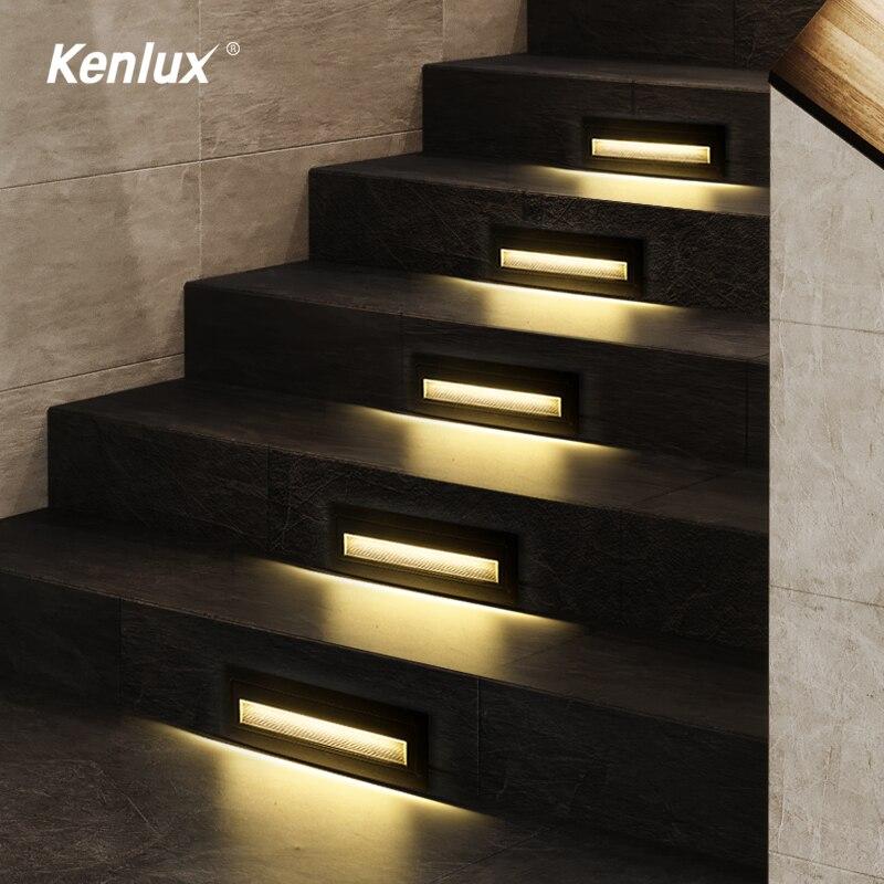 Offre spéciale étape escalier lumière 210mm Led lampe dintérieur jardin lumières mur souterrain intégré éclairage coin pied