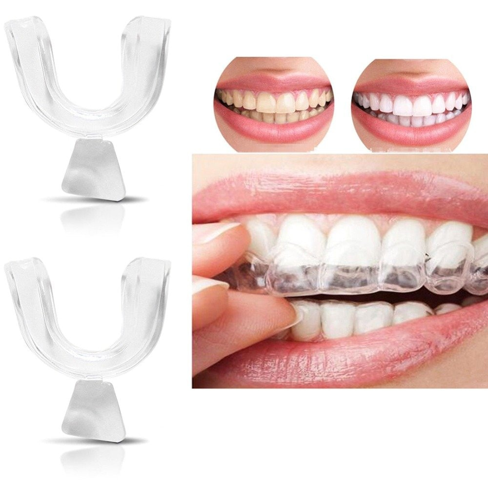 2pcs Thermoform Moldable Dental Mouth Guard, Whitening Teeth Trays Whitener Mouth Guard Care Oral Hy