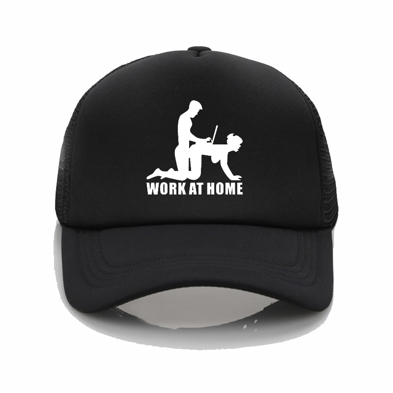 Fashion cap cute cartoon WOKE AT HOME for men and women adjustable cap baseball cap sports cap sun c