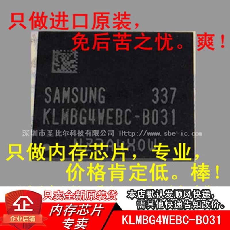 New10piece 32G EMMC KLMBG4WEBC-B031 KLMBG4WEBC BGA memoria IC