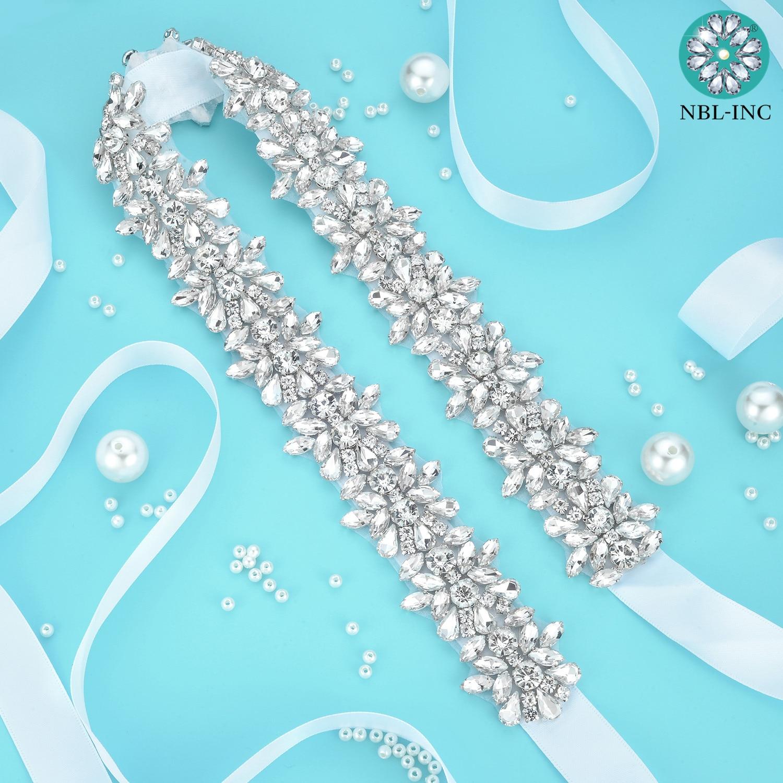 1pc vjenčani vjenčani vjenčani pojas s kristalnim dijamantnim - Vjenčanje pribor - Foto 4